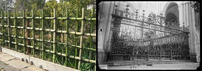 enrejado bambu unida